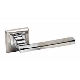 Изображение товара Раздельная дверная ручка Palidore А-220 белый никель/хром