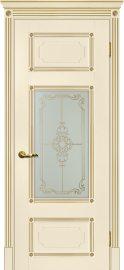 Изображение товара Межкомнатная дверь с эко шпоном Мариам Флоренция 3 Магнолия остекленная