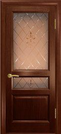Изображение товара Межкомнатная ульяновская дверь Дворецкий Готика орех остекленная