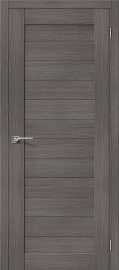 Изображение товара Межкомнатная дверь с эко шпоном el`PORTA Порта-21 Grey Veralinga глухая