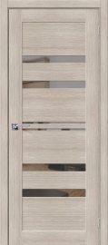 Изображение товара Межкомнатная дверь с эко шпоном Порта-30 Capuccino Veralinga/Mirox Grey остекленная