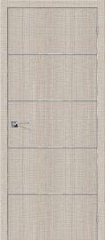 Изображение товара Межкомнатная дверь с эко шпоном Порта-50А-6 Cappuccino Crosscut глухая