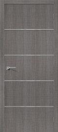 Изображение товара Межкомнатная дверь с эко шпоном Порта-50А-6 Grey Crosscut глухая