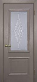 Изображение двери Классик-1 Каменное дерево остекленная в цвете каменное дерево