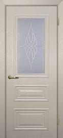 Изображение двери Классик-2 Бланжевое дерево остекленная в цвете бланжевое дерево