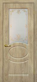 Изображение двери Сиена 1 Дуб песочный остекленная в цвете дуб песочный