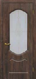 Изображение двери Сиена 2 Дуб корица остекленная в цвете дуб корица