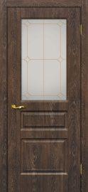 Изображение двери Версаль 2 Дуб корица остекленная в цвете дуб корица