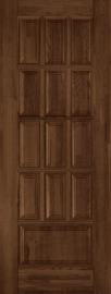 Изображение товара Межкомнатная дверь из массива Ока Лондон №1 Античный орех глухая