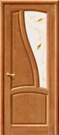 Изображение товара Межкомнатная дверь из массива Vi LARIO Рафаэль Т-26 (Орех) остекленная