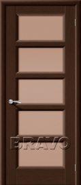 Изображение товара Межкомнатная дверь шпон файн-лайн Премьера-5 (Венге) остекленная
