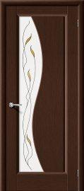 Изображение товара Межкомнатная дверь шпон файн-лайн Vi LARIO Руссо Ф-09 (Венге) остекленная