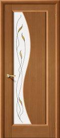 Изображение товара Межкомнатная дверь шпон файн-лайн Vi LARIO Руссо Ф-11 (Орех) остекленная