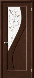 Изображение товара Межкомнатная дверь шпон файн-лайн Vi LARIO Сандро Ф-09 (Венге) остекленная