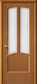 Изображение товара Межкомнатная дверь шпон файн-лайн Vi LARIO Ветразь ПО Ф-11 (Орех) остекленная