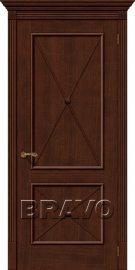 Изображение товара Межкомнатная шпонированная дверь Белорусские двери Луи II Д-19 (Бренди) глухая
