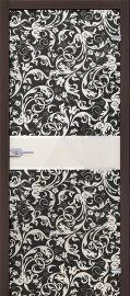 Изображение товара Стеклянная межкомнатная дверь Стеклянная Флори Черный глухая