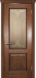 Изображение товара Межкомнатная ульяновская дверь Текона Фрейм 02 дуб остекленная
