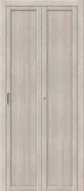 Изображение товара Межкомнатная складная дверь с эко шпоном el`PORTA Твигги M1 Cappuccino Veralinga глухая