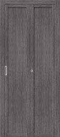 Изображение товара Межкомнатная складная дверьс эко шпоном el`PORTA Твигги M1 Grey Veralinga глухая