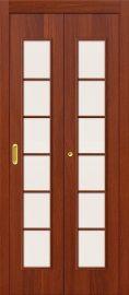 Изображение товара Дверь-книжка Дверь-книжка 2С (ИталОрех) остекленная
