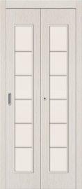 Изображение товара Дверь-книжка Браво 2С Л-21 (БелДуб) остекленная