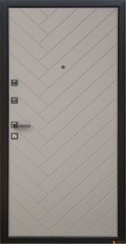 Дополнительное изображение товара Входная дверь ARMA Diagonal Венге