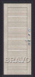 Дополнительное изображение товара Входная дверь Браво Прайм П-28 (Темная Вишня)/Cappuccino Veralinga остекленная