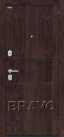 Изображение товара Входная дверь Браво Прайм П-28 (Темная Вишня)/Cappuccino Veralinga остекленная