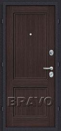 Дополнительное изображение товара Входная дверь Браво Класс Лунный камень/Wenge Veralinga глухая