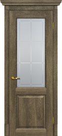 Изображение товара Межкомнатная дверь с эко шпоном Мариам Тоскана - 1 Бруно остекленная