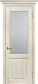 Изображение товара Межкомнатная дверь с эко шпоном Мариам Тоскана - 1 Бьянко остекленная