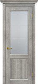 Изображение товара Межкомнатная дверь с эко шпоном Мариам Тоскана - 1 Чиаро гриджио остекленная