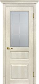 Изображение товара Межкомнатная дверь с эко шпоном Мариам Тоскана - 2 Бьянко остекленная