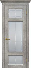 Изображение товара Межкомнатная дверь с эко шпоном Мариам Тоскана - 3 Чиаро гриджио остекленная
