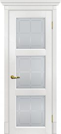 Изображение товара Межкомнатная дверь с эко шпоном Мариам Тоскана - 4 Пломбир остекленная