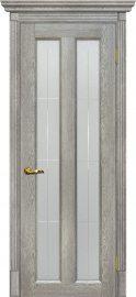 Изображение товара Межкомнатная дверь с эко шпоном Мариам Тоскана - 5 Капучино остекленная