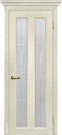 Изображение товара Межкомнатная дверь с эко шпоном Мариам Тоскана - 5 Ваниль остекленная