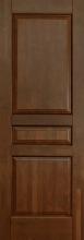 Изображение товара Межкомнатная дверь из массива Ока Валенсия Античный орех глухая