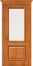 Изображение товара Межкомнатная шпонированная дверь Белорусские двери Шервуд Д-10 (Золотой Дуб) остекленная