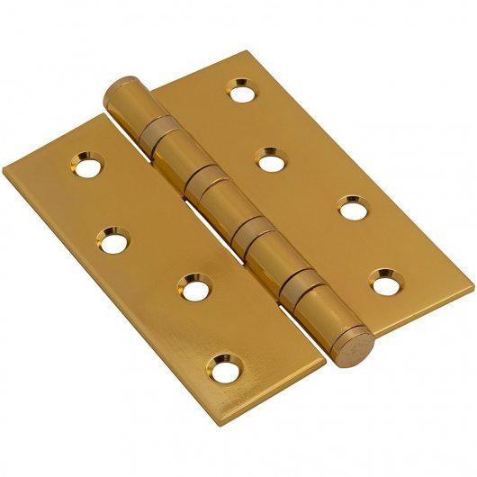 Изображение Петля врезная стальная Bravo 100*70*2,5 PB Золото