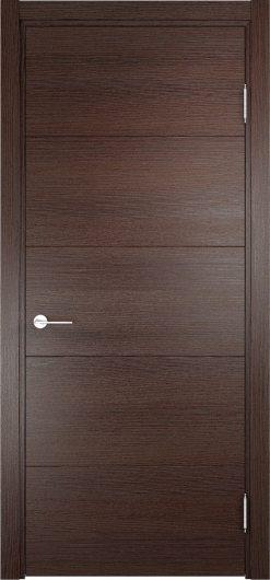 Изображение Межкомнатная дверь с эко шпоном ТУРИН 01 Дуб графит вералинга глухая