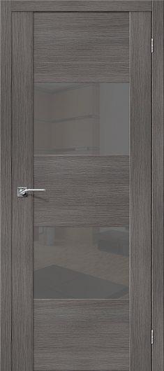 Изображение Межкомнатная дверь с эко шпоном el`PORTA VG2 S Grey Veralinga остекленная