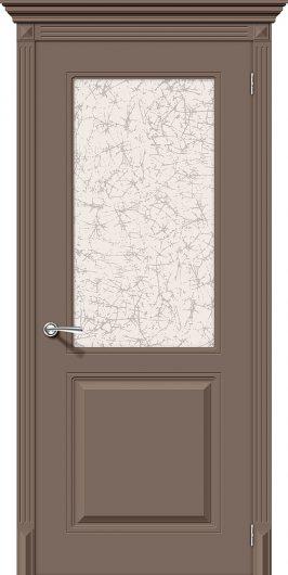 Изображение Межкомнатная эмалированная дверь Браво Блюз К-13 (Мокко) остекленная