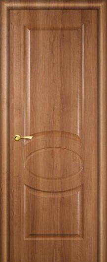 Изображение Межкомнатная дверь с эко шпоном Алекс Орех карамельный глухая