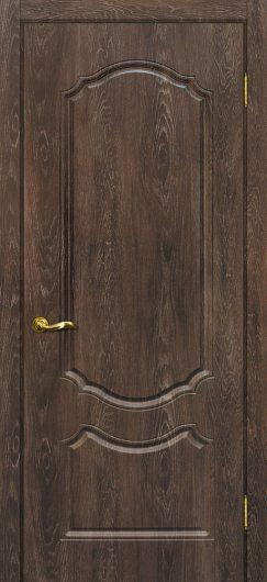 Изображение Межкомнатная дверь с ПВХ-пленкой Сиена 2 Дуб корица глухая