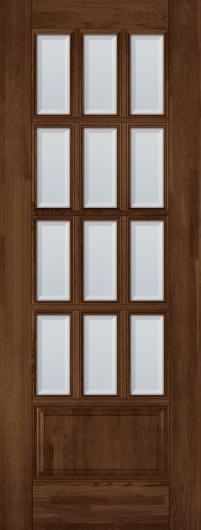 Изображение Межкомнатная дверь из массива Лондон №2 Античный орех остекленная