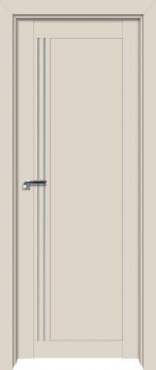 Изображение Межкомнатная дверь с экошпоном 2.50U Магнолия сатинат глухая
