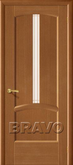 Изображение Межкомнатная дверь шпон файн-лайн Vi LARIO Ветразь ПЧО Ф-11 (Орех) остекленная