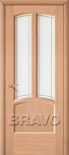 Изображение Межкомнатная дверь шпон файн-лайн Ветразь Ф-04 (Дуб) Остекленная